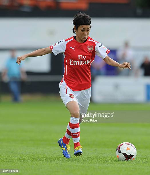 Yukari Kinga of Arsenal Ladies during the match between Millwall Lionessess and Arsenal Ladies in the Womens Continental League Cup on July 13 2014...