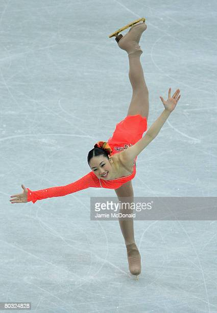 Yukari Nakano of Japan in action during her Free Skate during the ISU World Figure Skating Championships at the Scandinavium Arena on March 20 2008...