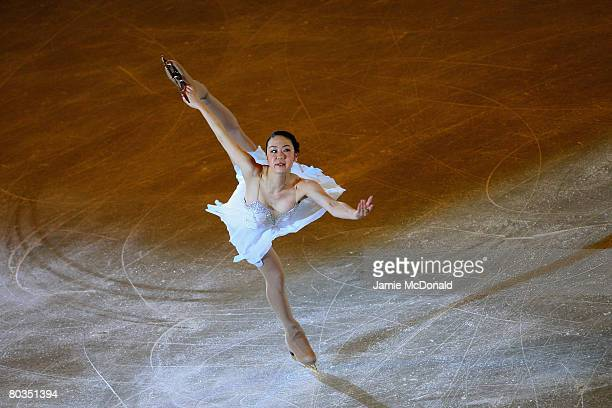 Yukari Nakano of Japan performes in the Gala during the ISU World Figure Skating Championships at the Scandinavium Arena on March 23 2008 in...