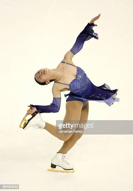 Yukari Nakano of Japan skates the ladies short program during day 2 of 2008 Skate America at the Comcast Arena on October 25 2008 in Everett...
