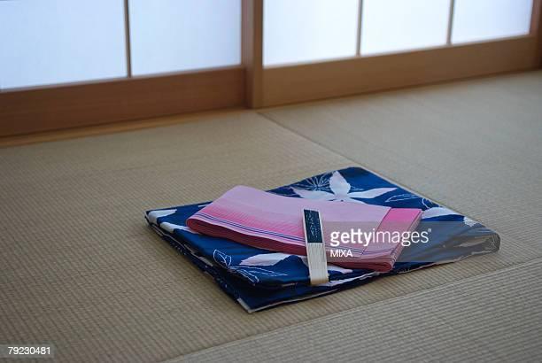 Yukata on tatami mat