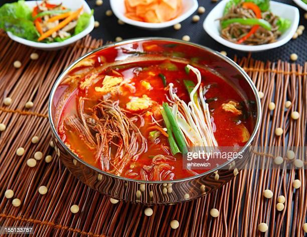 yukgaejang - korean food stock pictures, royalty-free photos & images