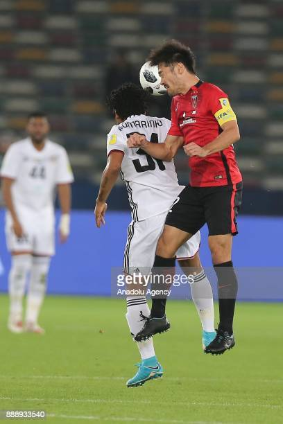 Yuki Abe of Urawa Red Diamonds in action during 2017 FIFA Club World Cup match between Urawa Red Diamonds and AlJazira at Zayed Sports City Stadium...