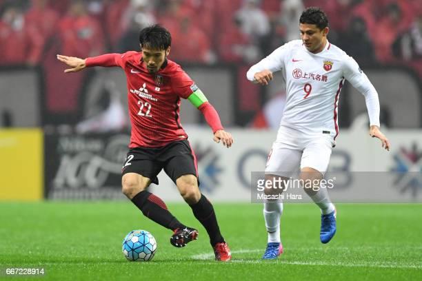 Yuki Abe of Urawa Red Diamonds in action during the AFC Champions League Group F match between Urawa Red Diamonds and Shanghai SIPG FC at Saitama...