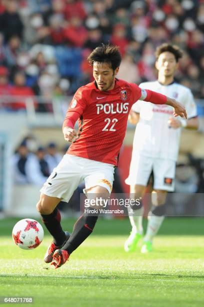 Yuki Abe of Urawa Red Diamonds in action during the JLeague J1 match between Urawa Red Diamonds and Cerezo Osaka at Saitama Stadium on March 4 2017...