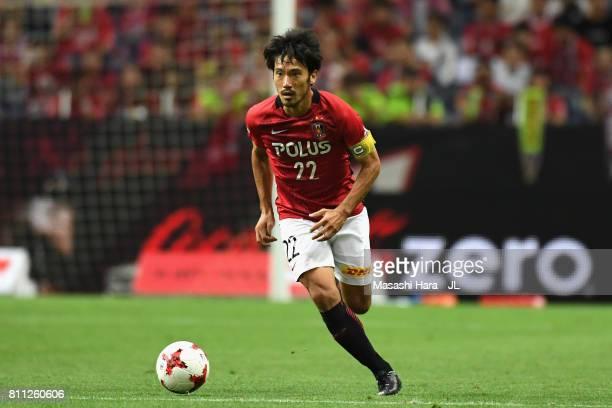 Yuki Abe of Urawa Red Diamonds in action during the JLeague J1 match between Urawa Red Diamonds and Albirex Niigata at Saitama Stadium on July 9 2017...