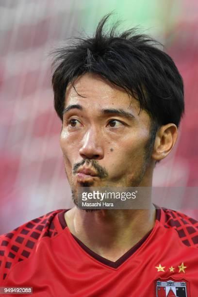 Yuki Abe of Urawa Red Diamonds looks on after the JLeague J1 match between Urawa Red Diamonds and Consadole Sapporo at Saitama Stadium on April 21...