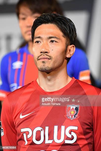 Yuki Abe of Urawa Reds attends the 2015 J League Press Conference at Grand Prince Hotel Shin Takanawa on February 19 2015 in Tokyo Japan