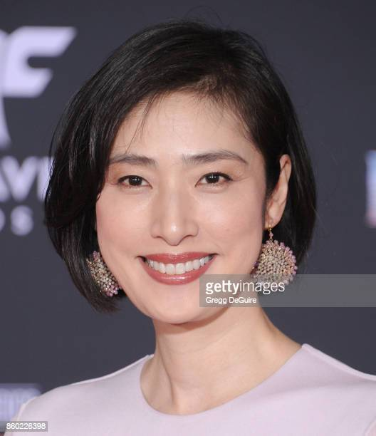 Yuki Amami arrives at the premiere of Disney and Marvel's 'Thor Ragnarok' at the El Capitan Theatre on October 10 2017 in Los Angeles California