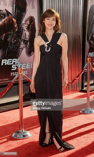 Yuki Amami arrives at the World Premiere of 'Real Steel' at the Gibson Amphitheatre on October 2 2011 in Universal City California