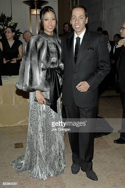 Yuki Bouzari and CEO at DataDirect Networks Inc Alex Bouzari attends The Frick Collection Autumn dinner at The Frick Collection on October 20 2008 in...