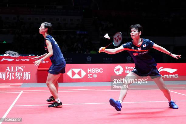Yuki Fukushima and Sayaka Hirota of Japan in action during the women's doubles semi final match against Mayu Matsumoto and Wakana Nagahara of Japan...