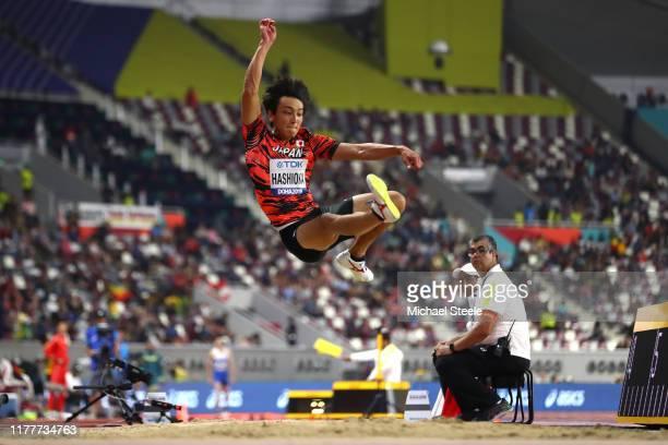 Yuki Hashioka of Japan competes in the Men's Long Jump Final during day two of 17th IAAF World Athletics Championships Doha 2019 at Khalifa...