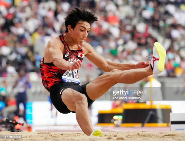 Yuki Hashioka of Japan competes in the Men's Long Jump qualification during day one of 17th IAAF World Athletics Championships Doha 2019 at Khalifa...