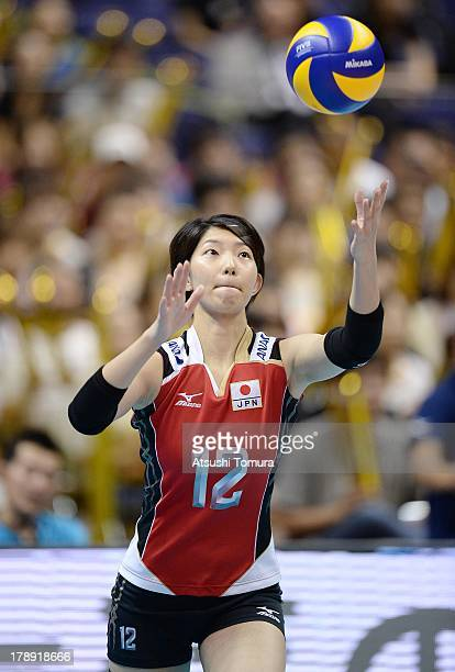 Yuki Ishii of Japan in action during day four of the FIVB World Grand Prix Sapporo 2013 match between Japan and China at Hokkaido Prefectural Sports...