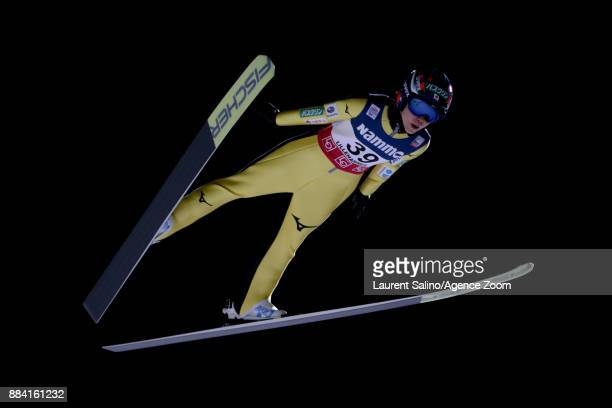 Yuki Ito of Japan competes during the FIS Nordic World Cup Women's Ski Jumping HS100 on December 1 2017 in Lillehammer Norway