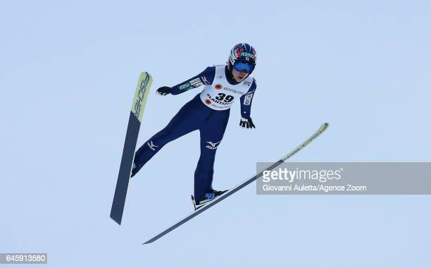 Yuki Ito of Japan competes during the FIS Nordic World Ski Championships Women's Ski Jumping HS100 on February 24 2017 in Lahti Finland