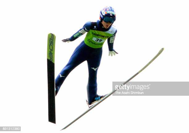 Yuki Ito of Japan competes during the Women's HS 96 at the FIS Grand Prix Ski Jumping on August 11 2017 in Courchevel France