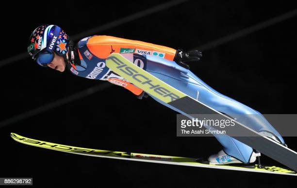Yuki Ito of Japan competes in the FIS Ski Jumping Women's World Cup on December 2 2017 in Lillehammer Norway
