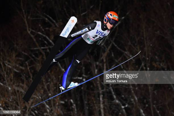 Yuki Ito of Japan competes on day one of the FIS Ski Jumping World Cup Ladies Sapporo at Okurayama Jump Stadium on January 12 2019 in Sapporo...