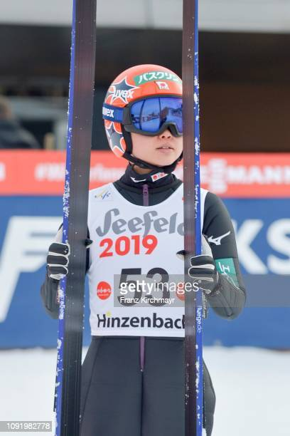 Yuki Ito of Japan during the Qualification for the FIS Ski Jumping Women's Worldcup at Energie AG Skisprungarena on February 1 2019 in Hinzenbach...