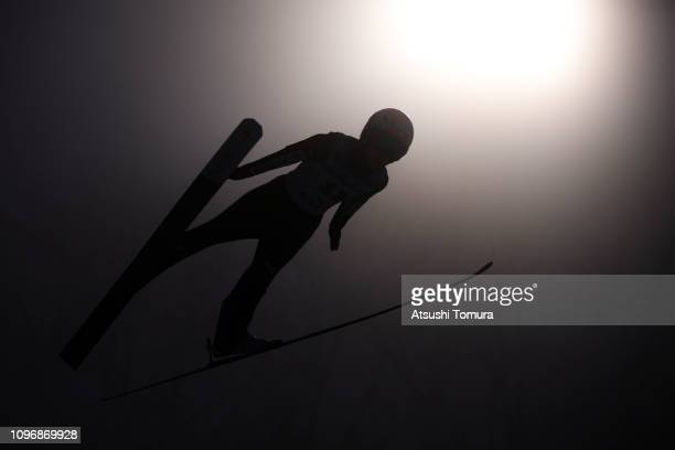 Yuki Ito of Japan in action during day two of the FIS Ski Jumping World Cup Ladies Zao at Kuraray Zao Schanze on January 20 2019 in Yamagata Japan