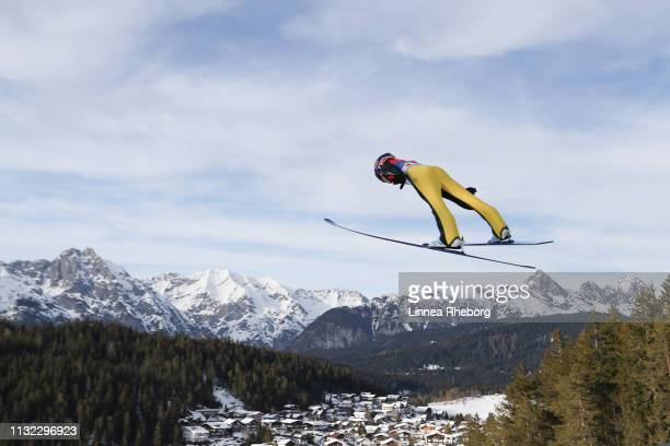 Yuki Ito of Japan jumps during the first round of the HS109 women's ski jumping Competition of the FIS Nordic World Ski Championships at Toni Seelos...