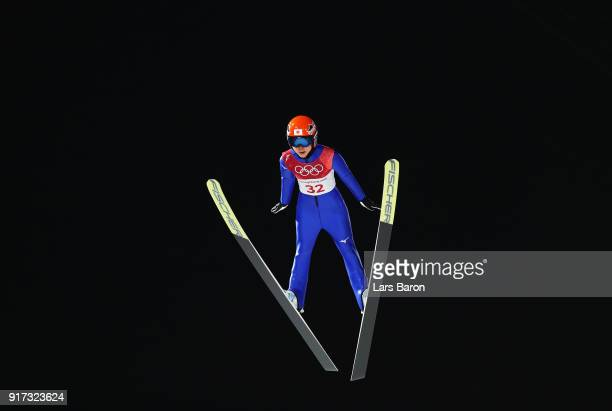 Yuki Ito of Japan makes a jump during the Ladies' Normal Hill Individual Ski Jumping Final on day three of the PyeongChang 2018 Winter Olympic Games...