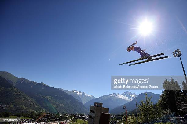 Yuki Ito of Japan takes the 3rd place during the Finals of the FIS Grand Prix Ski Jumping 2016 on July 16 2016 in Courchevel France