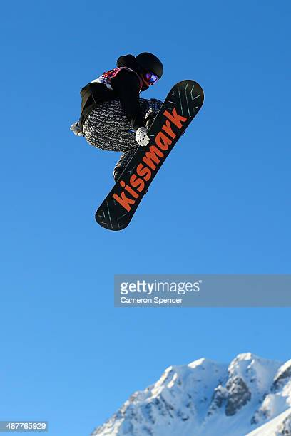 Yuki Kadono of Japan competes during the Snowboard Men's Slopestyle Semifinals during day 1 of the Sochi 2014 Winter Olympics at Rosa Khutor Extreme...