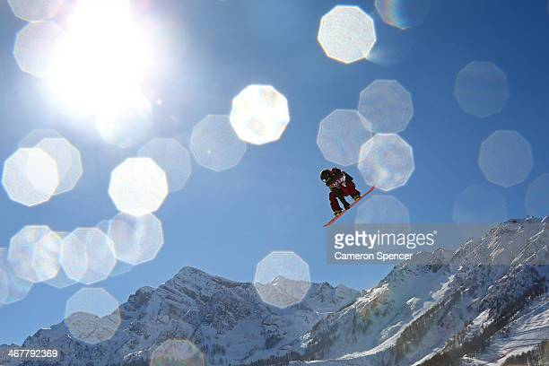 Yuki Kadono of Japan competes during the Snowboard Men's Slopestyle Final during day 1 of the Sochi 2014 Winter Olympics at Rosa Khutor Extreme Park...
