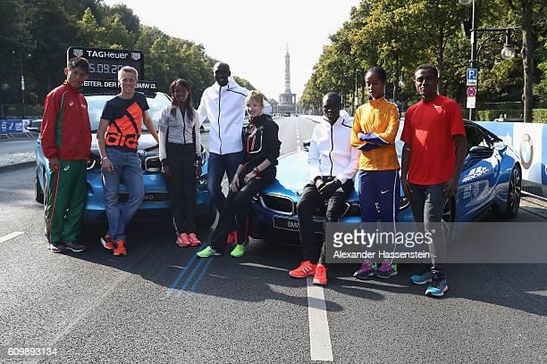 Yuki Kawauchi of Japan Steffen Uliczka of Germany Aberu Kebede of Ethiopia ormer world record holder Wilson Kipsang of Kenya Katharina Heinig of...