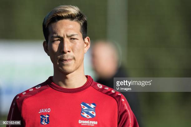 Yuki Kobayashi of sc Heerenveen during a training session of SC Heerenveen at the La Manga Club Resort on January 07 2018 in La Manga Spain