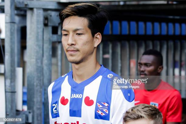 Yuki Kobayashi of SC Heerenveen during the Club Friendly match between SC Heerenveen v Kayserispor at the Abe Lenstra Stadium on July 21 2018 in...