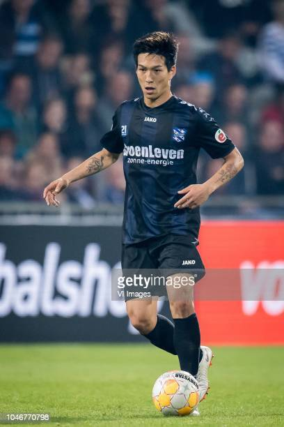 Yuki Kobayashi of sc Heerenveen during the Dutch Eredivisie match between De Graafschap Doetinchem and sc Heerenveen at De Vijverberg stadium on...