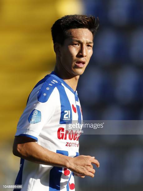 Yuki Kobayashi of sc Heerenveen during the Friendly match between NAC Breda and sc Heerenveen at the Rat Verlegh stadium on October 10 2018 in Breda...