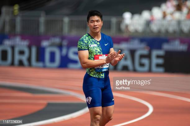 Yuki Koike running for Japan in the 200m during the Muller Anniversary Games at the London Stadium, Stratford on Sunday 21st July 2019
