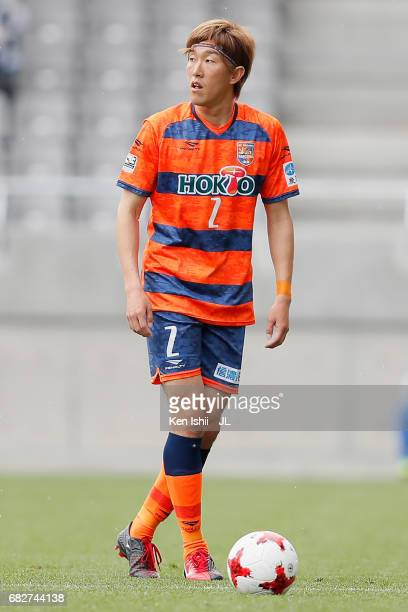 Yuki Matsubara of AC Nagano Parceiro in action during the J.League J3 match between AC Nagano Parceiro and Kagoshima United at Minami Nagano Stadium...
