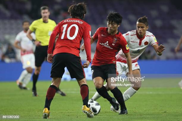 Yuki Muto of Urawa Red Diamonds in action during 2017 FIFA Club World Cup match between Wydad Casablanca and Urawa Red Diamonds at the Hazza Bin...