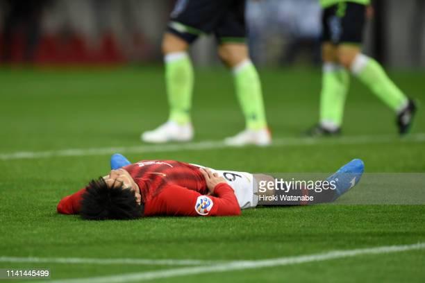 Yuki Muto of Urawa Red Diamonds reacts during the AFC Champions League Group G match between Urawa Red Diamonds and Jeonbuk Hyundai Motors at Saitama...