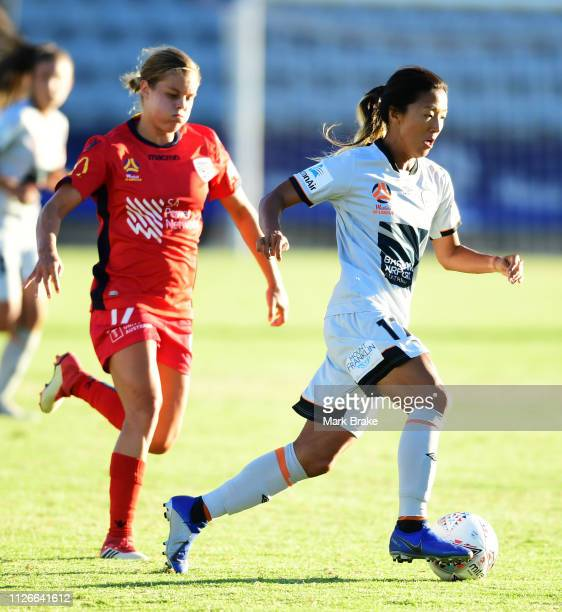 Yuki Nagasato of Brisbane Roar during the round 14 WLeague match between Adelaide United and the Brisbane Roar at Marden Sports Complex on February...