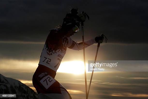 Yuki Nakajima of Japan competes in the Women's 75 km Sprint during day two of the Sochi 2014 Winter Olympics at Laura Crosscountry Ski Biathlon...
