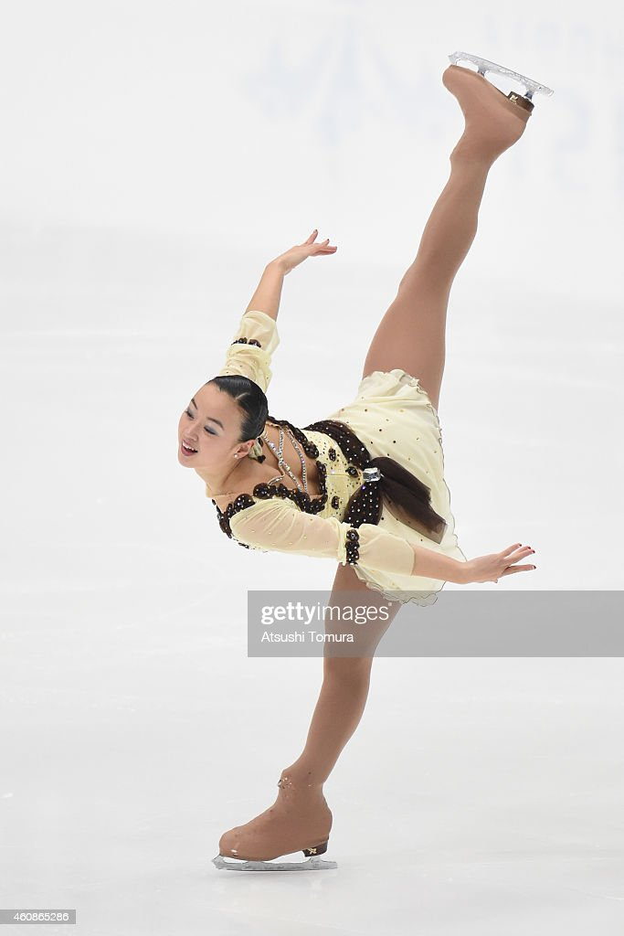 Yuki Nishino of Japan competes in Ladie's Free Skating during the 83rd All Japan Figure Skating Championships at the Big Hat on December 28, 2014 in Nagano, Japan.