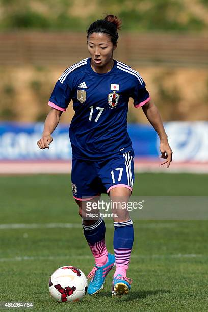 Yuki Ogimi of Japan during the Women's Algarve Cup match between Japan and Denmark on March 4 2015 in Parchal Portugal