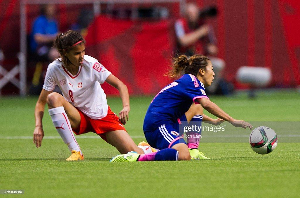 Japan v Switzerland: Group C - FIFA Women's World Cup 2015 : News Photo