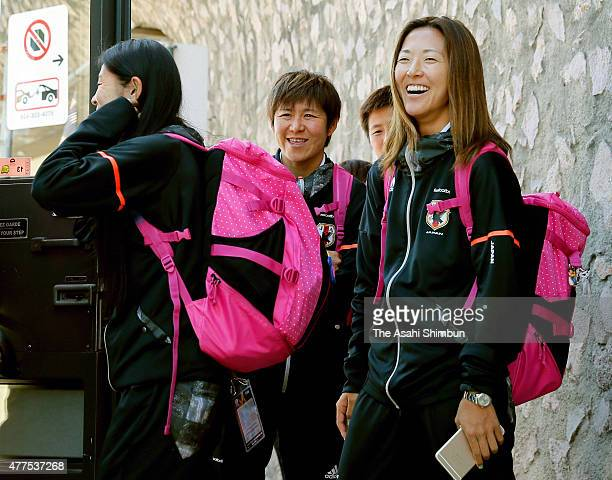 Yuki Ogimi of Japan smiles on arrival at vancouver International Airport on June 17, 2015 in Vancourver, Canada.