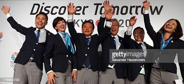 "Yuki Ota Tokyo 2020 Bid Committee Ambassador pose with Christel Takigawa, ""Cool Tokyo"" Ambassado, Naoki Inose, Governor of Tokyo and Chairman Tokyo..."