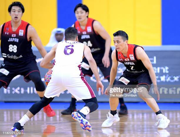Yuki Togashi of Japan in action during the FIBA World Cup Asian Qualifier 2nd Round Group F match between Qatar and Japan on February 24 2019 in Doha...