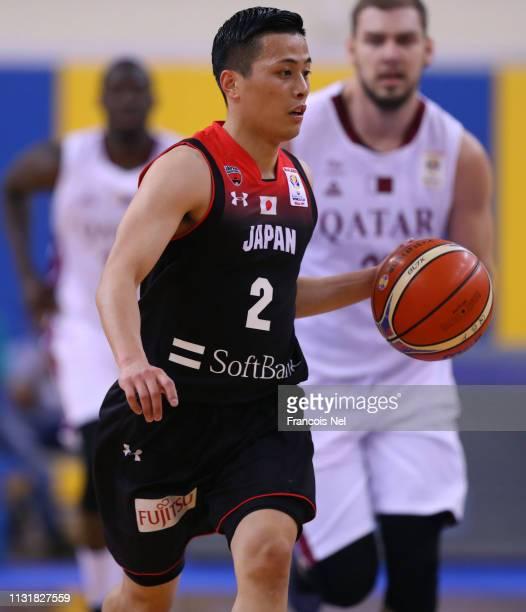 Yuki Togashi of Japan runs with the ball during the FIBA Basketball World Cup 2019 Asian Qualifier between Qatar and Japan at Al Gharrafa Sport...