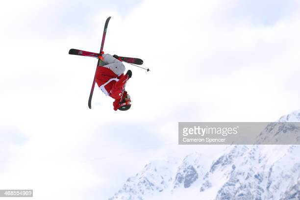 Yuki Tsubota of Canada competes in the Freestyle Skiing Women's Ski Slopestyle Qualification on day four of the Sochi 2014 Winter Olympics at Rosa...